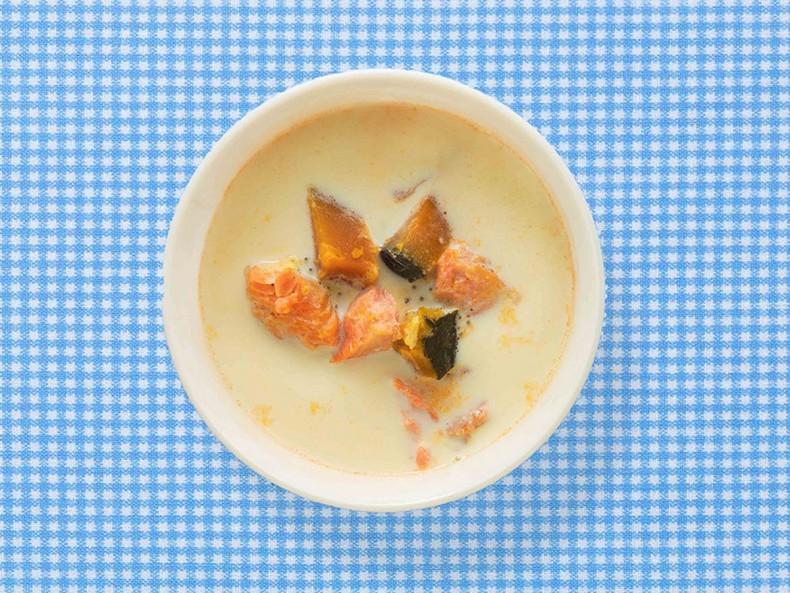 紅鮭とかぼちゃのスープ