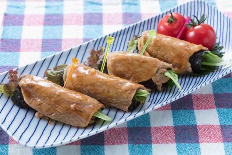 生姜焼の巻サラダ