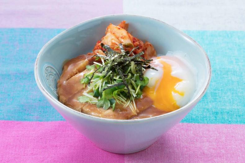 ビビンバ風豚ロースの味噌焼丼