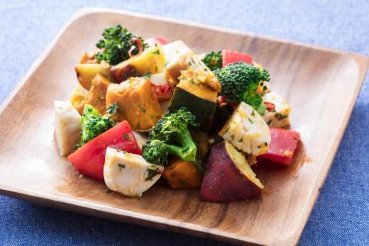 サラダチキンと温野菜のペペロンサラダ_2