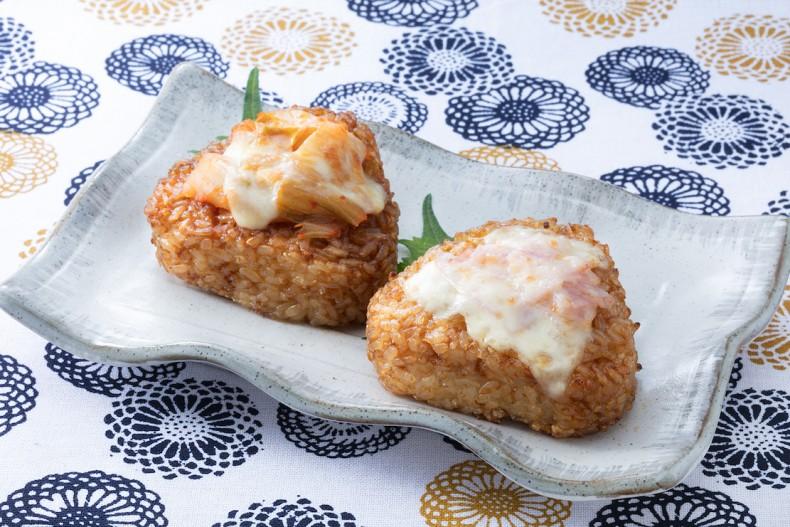 キムチーズ&ベーコンマヨ焼おにぎり