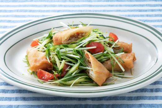 春巻きの中華サラダ2