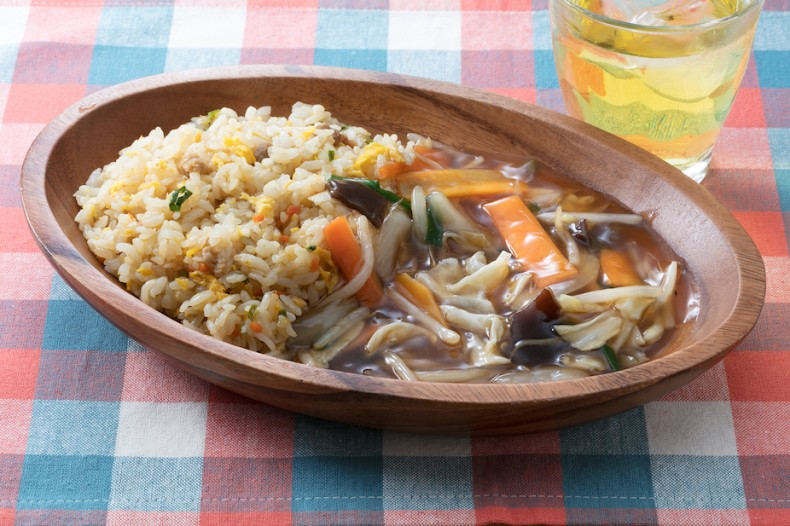 野菜あんかけ炒飯2