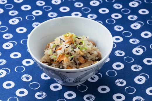 ホタテとひじき煮の炊き込みご飯